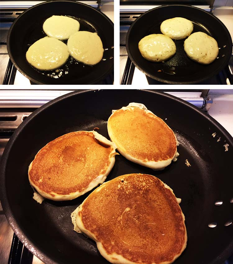 Vegan Pancakes Frying