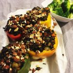 Filled Peppers With Pan Fried Broccoli