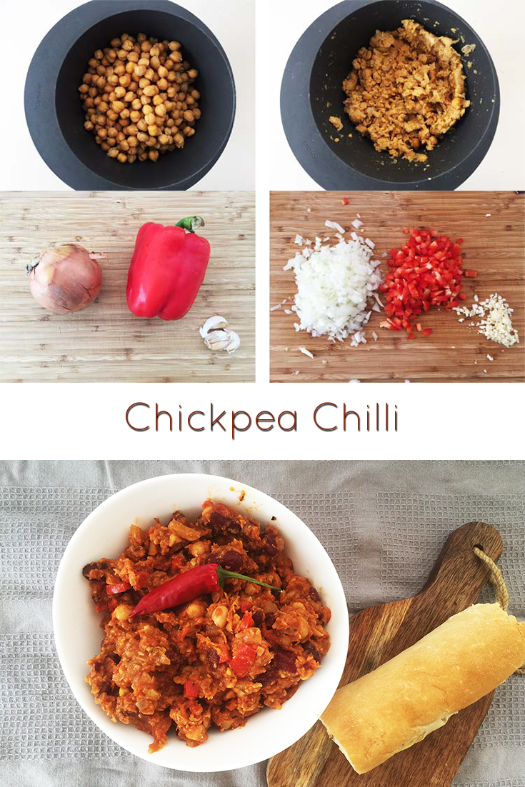 A nice hearty, spicy and comforting chickpea chilli that you can eat on weekdays as well as dinner parties. You will come back to this recipe, I promise.  #vegan #veganrecipes