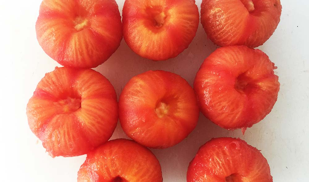 Scalded tomatoes