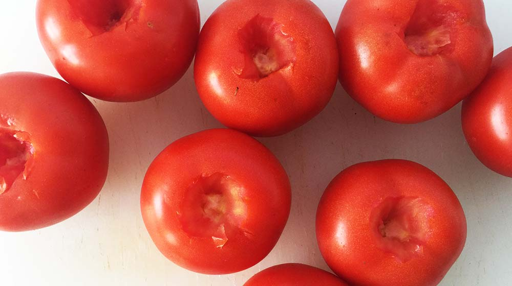 Tomatoes with no stem mount