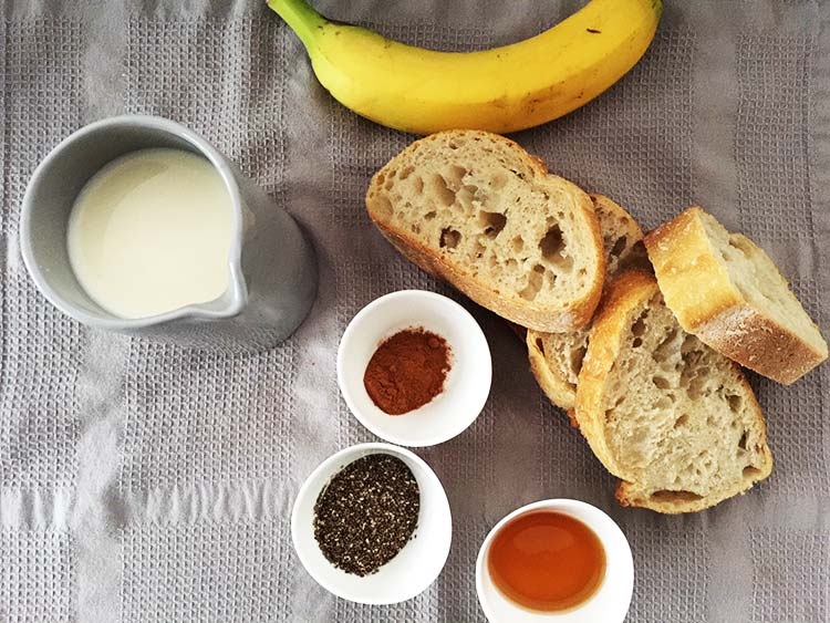Vegan French Toast Ingredients