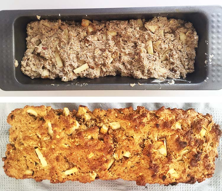 Apple and Nut Bread - Baking