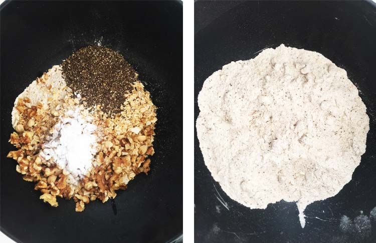 Apple and Nut Bread - Dry ingredients