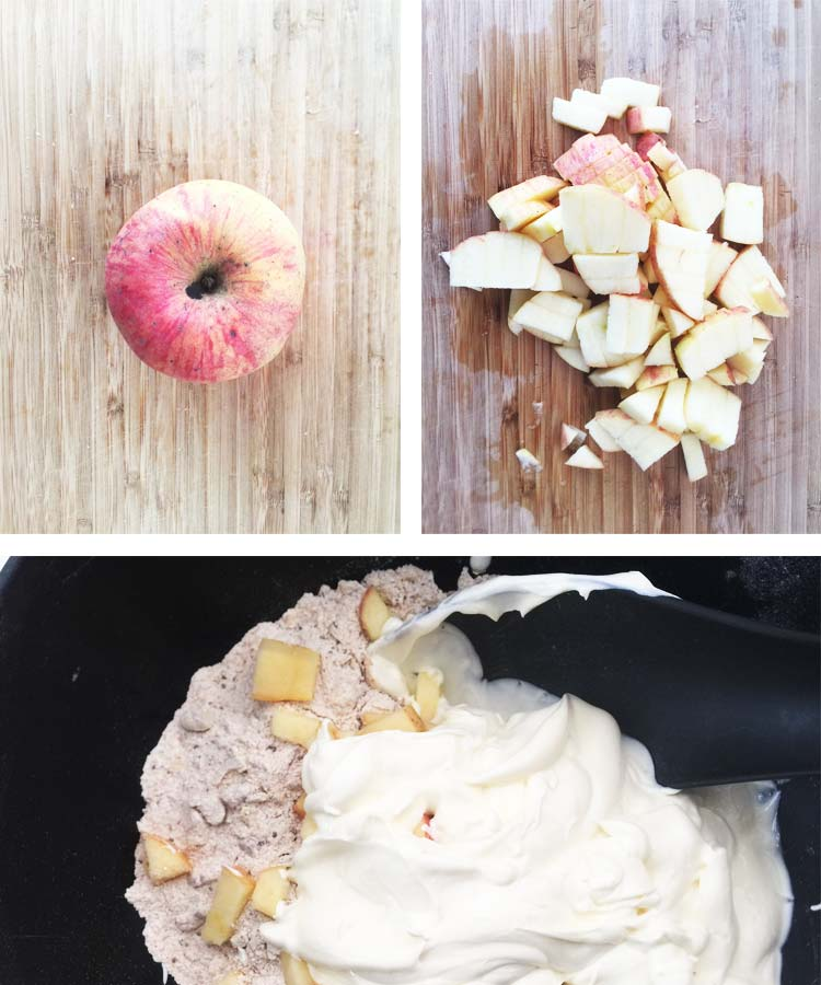 Apple and Nut Bread - Wet ingredients