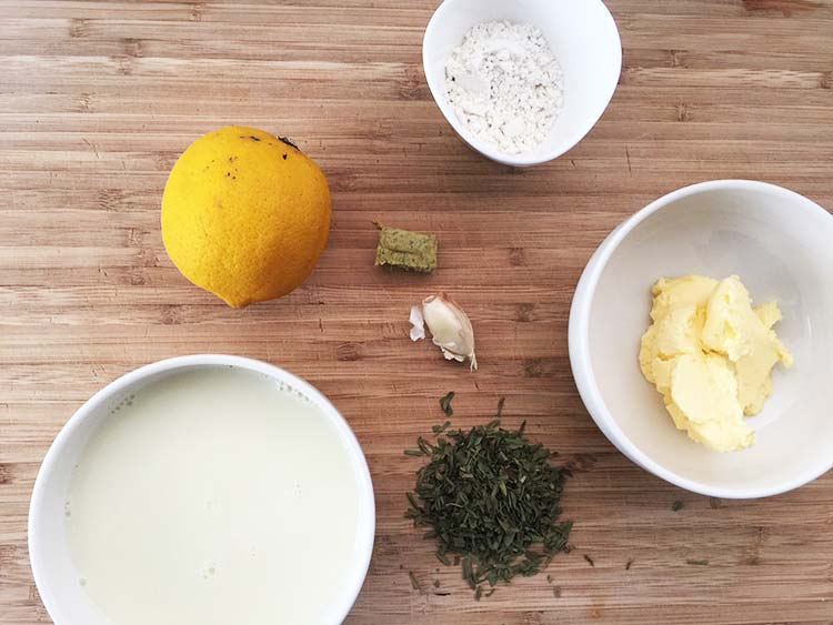 Vegan Bearnaise Sauce - Ingredients