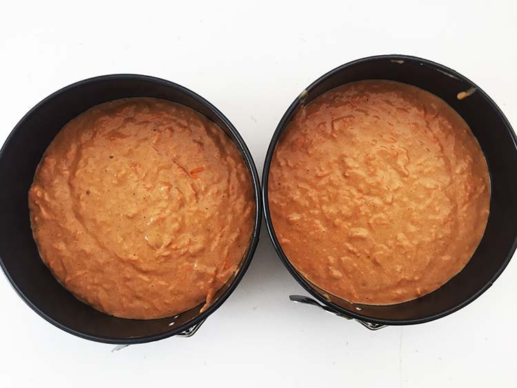 Vegan Carrot Cake - Before Bake