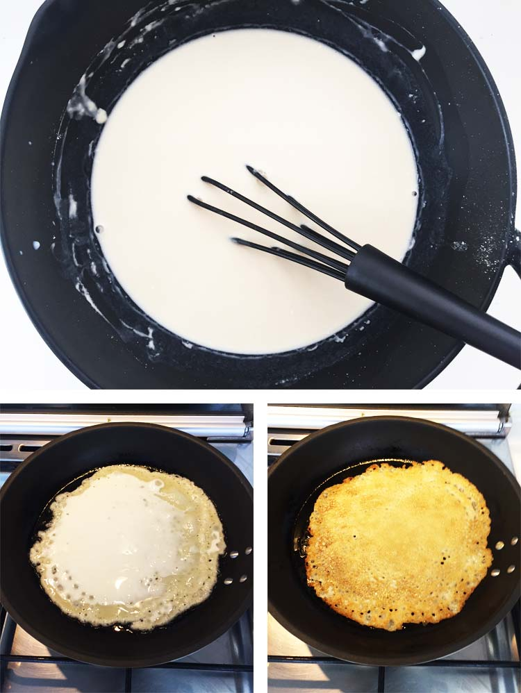 Vegan Crepes - Frying