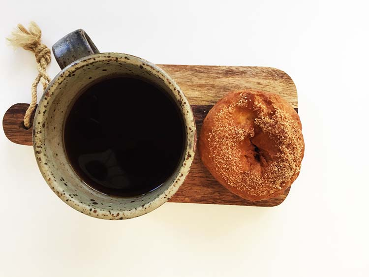 Vegan Doughnut and coffee