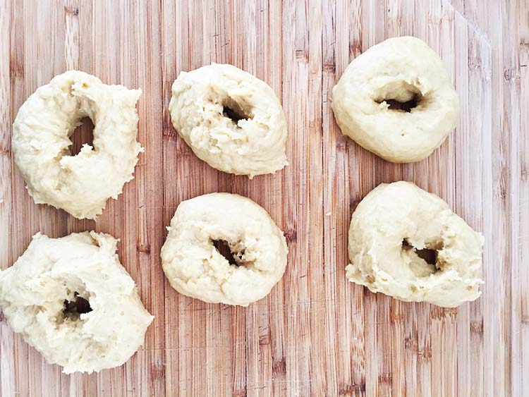 Vegan Doughnuts - Before frying