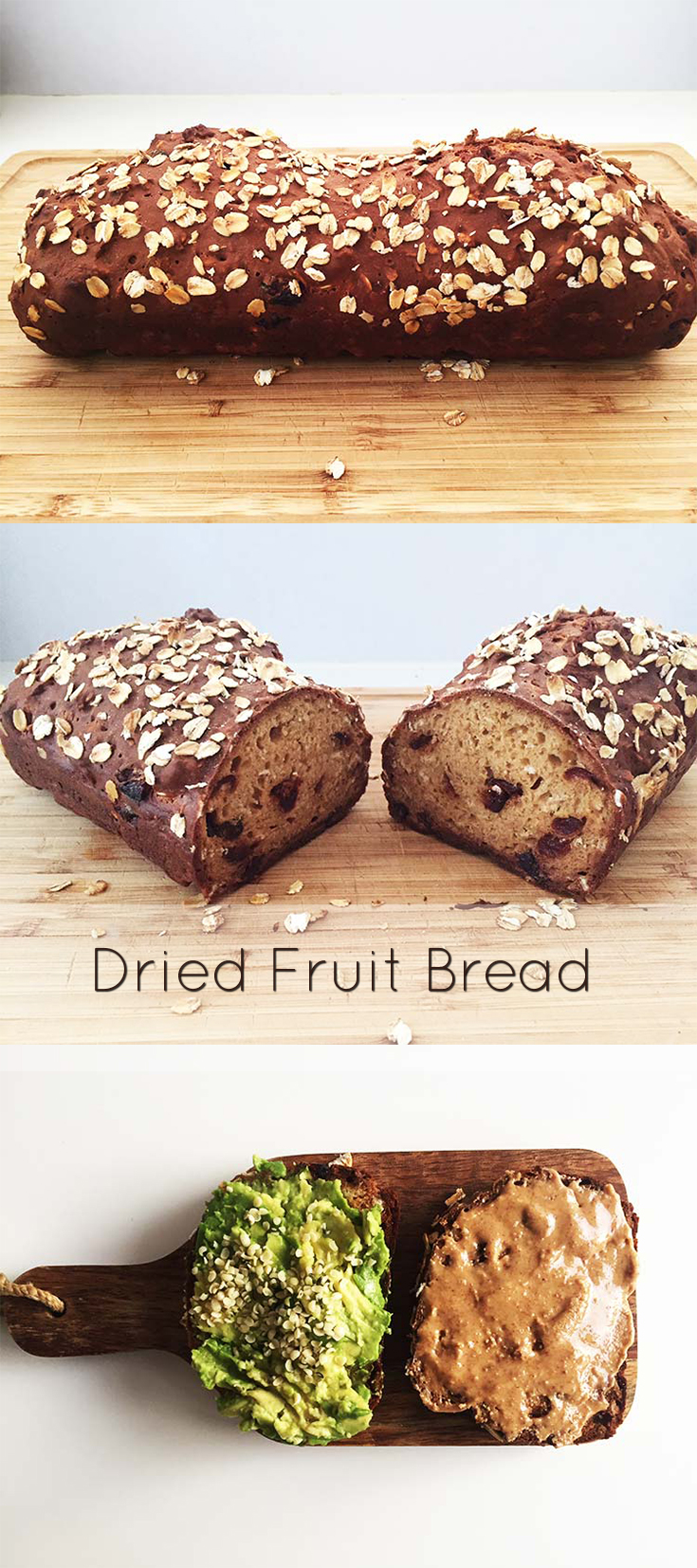 Every bite of this dried fruit bread is a treat. No yeast, no rising just mix the ingredients, pop it in a loaf form and bake in the oven.