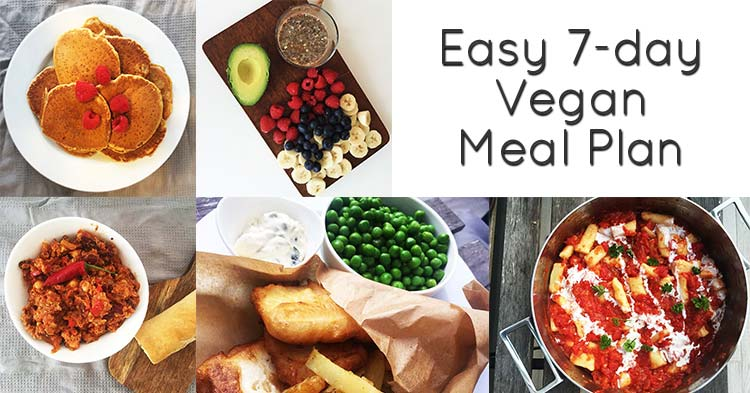 Easy 7-day vegan meal plan