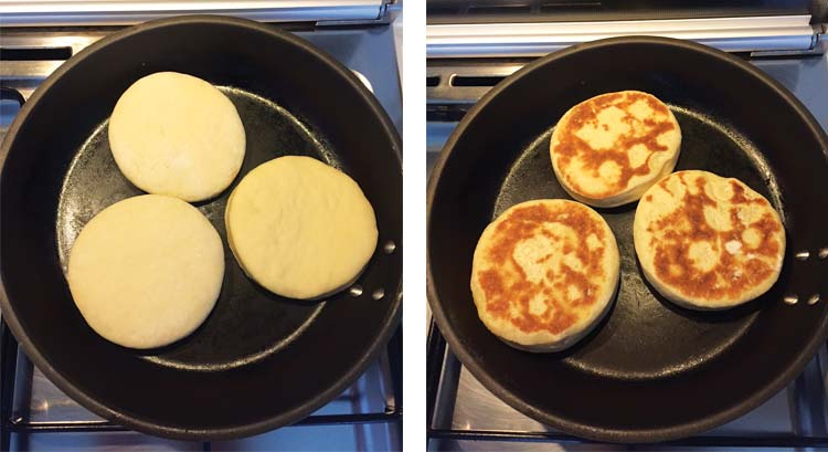 Vegan English Muffins . Fryint
